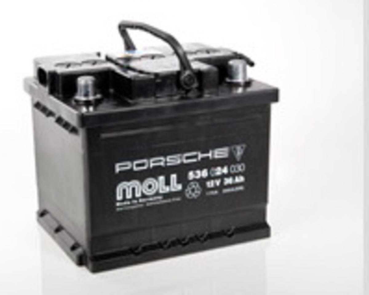battery 12v 36ah 99961101491 generator starter distributor porsche 911 parts wise 911. Black Bedroom Furniture Sets. Home Design Ideas