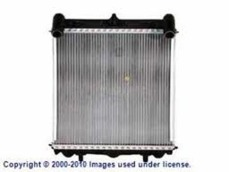 Boxster (97-04), 996 (98-05) Right radiator for water coolant fluid. Made by Behr/Hella (the original manufacturer)