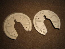 356C rear brake dust covers, sold per piece.