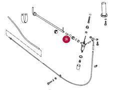 356A-C Binnenste rubber stop voor Bedieningsstang benzinekraan.