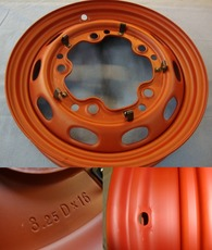 356 Pre-A 3.25 x 16 inch steel wheel prime coated, Perfect reproduction with TUV aproval!