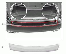Cayenne (11-14) Protection film for the rear bumper.