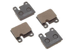 911 Carrera (84-89) Brake pad set for the front axle, these brake pads have holes for the warning contacts.