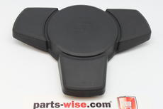 All 911 (74-84), 924 (76-88), 928 (78-82), 944 (82-84) Steering wheel cover/horn button for 3-spoke steering wheel, black.