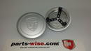 Wheel centre cap for Fuchs wheels, silver painted with 3 springclips for 66 mm openings.